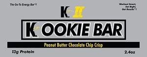 K II Peanut Butter Chocolate Chip Crisp Kookie Bar (30)